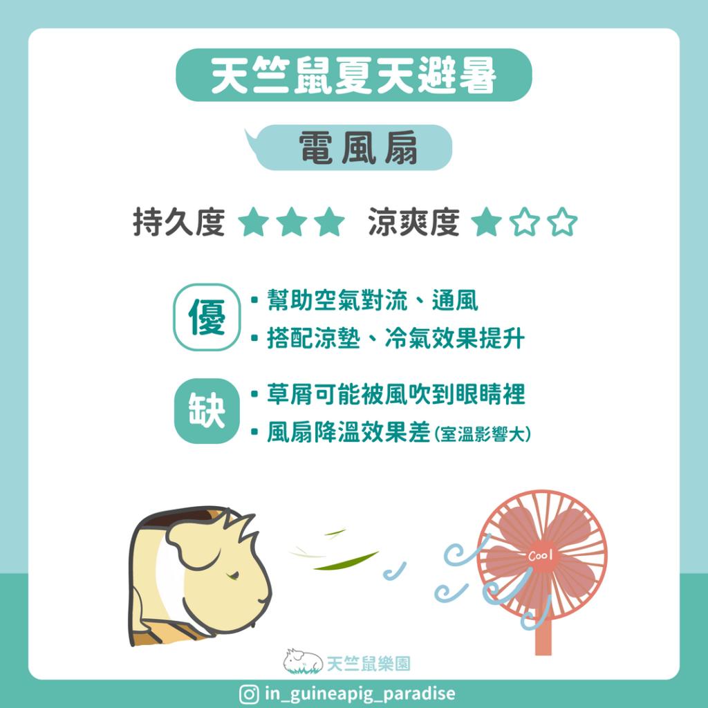 天竺鼠夏天避暑風扇